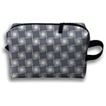 Too Suffering Floral Detailed Circles Travel Bag Multifunction Portable Toiletry Bag Organizer Storage