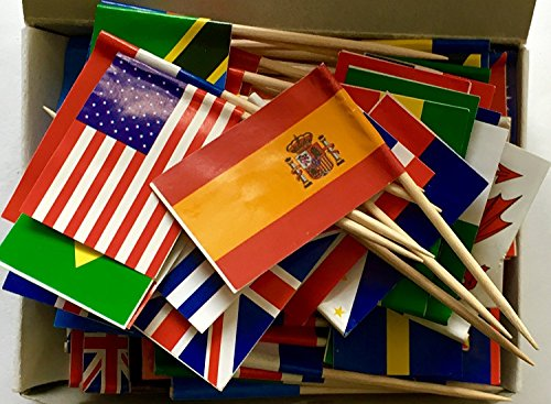 World Flag Toothpick Box Of 100 Toothpicks Country Flags