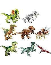 8 pcs Jurassic Park World Dinosaur Puzzle toy building blocks toys for children