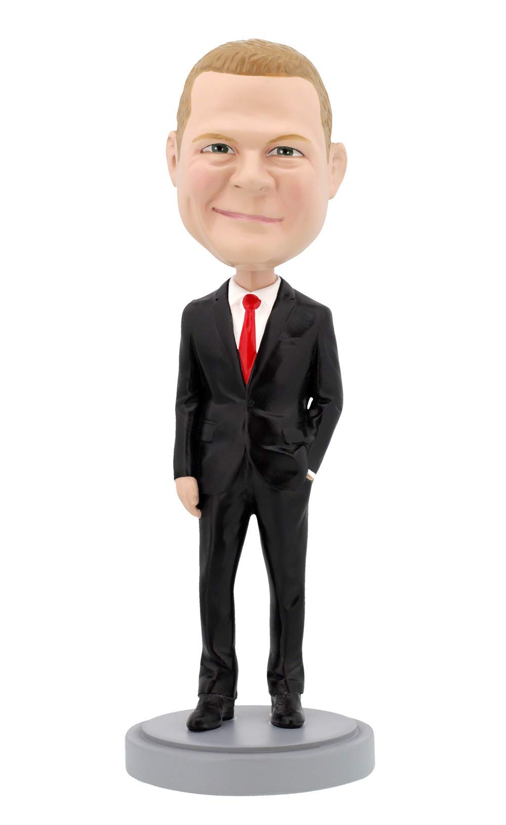 Custom Bobbleheads - Male Executive in Power Suit Body - Personalized Gifts
