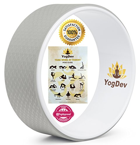 YogDev 12-Inch Roller for Yoga, Grey