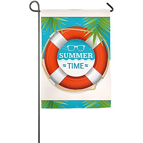 Garden Flag - Custom Pool Summer Time Yard Flag 12 X 18 Inch