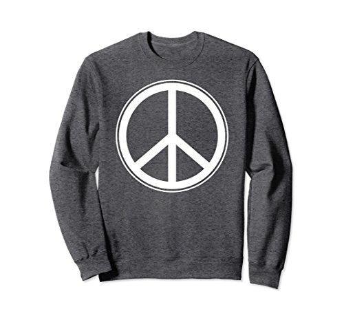 Unisex Peace Sign - Interfaith Human Religion Tolerance Sweatshirt 2XL Dark (Peace Sign Sweater)