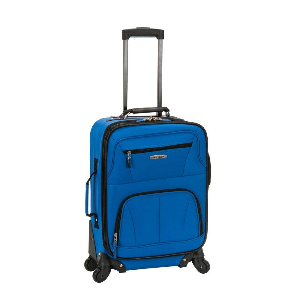 Rockland Luggage 19 Inch Expandable Spinner Carry On, Blue
