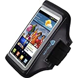 Samsung Galaxy S3 Armband : Stalion Sports Running & Exercise Gym Sportband (Jet Black)Water Resistant + Sweat Proof + Key Holder