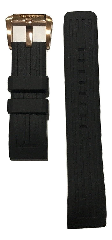 (ブローバ) Bulova ブラックラバーバンドストラップ Bulova Precisionist腕時計98B152および98B181用  B01NAFK0ED
