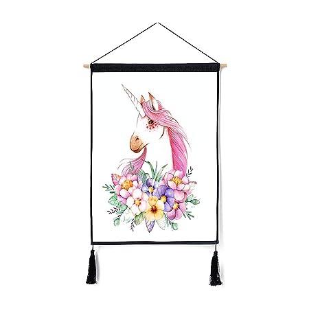 Pergamino De La Tapicería Del Unicornio Flor Del Arte De La ...