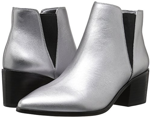 Chelsea Leather Metallic de Tobillo tacón Rory Fix Puntiaguda The Mujer Pewter de de Bota Bloque para x06aZEAqnw