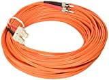 C2G / Cables to Go 37426 SC/ST Duplex 50/125 Multimode Fiber Patch Cable (20 Meter, Orange)