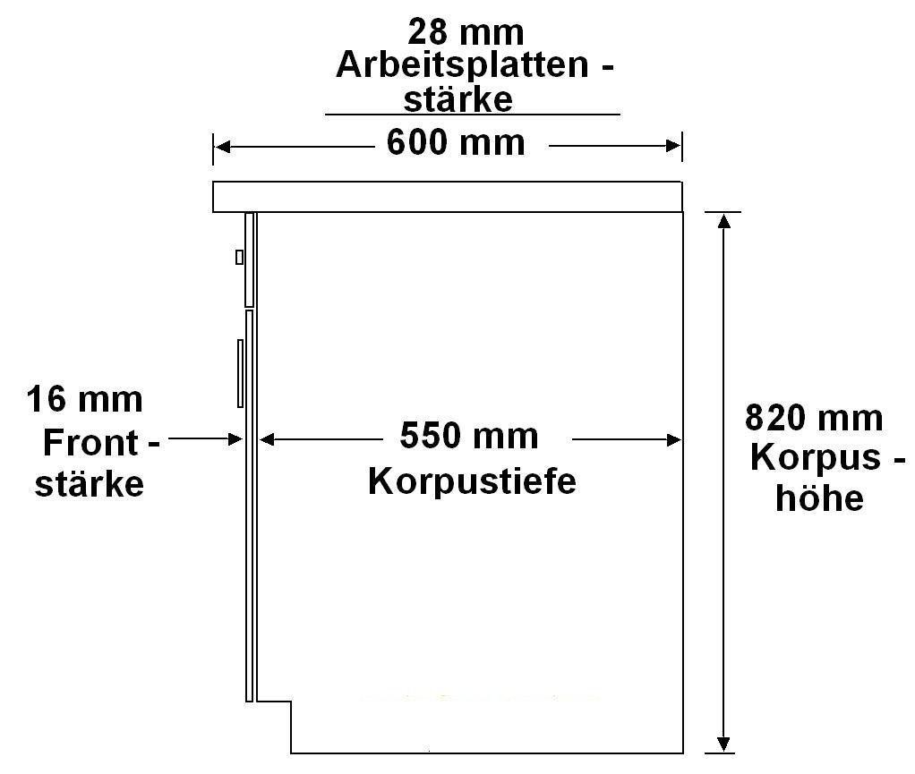 K/üche Route 270 K/üchenzeile K/üchenblock Einbauk/üche Singlek/üche Weiss Beton