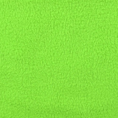 Lime Green Fleece Fabric - By the Yard