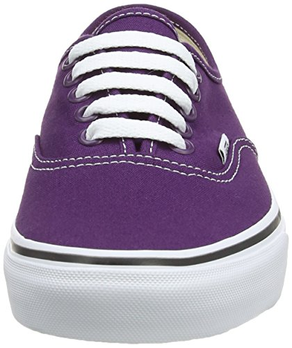 Quarter AUTHENTIC Gray Zapatillas Morado Vans Steeple Black Mujer Leather C1Swpq4q
