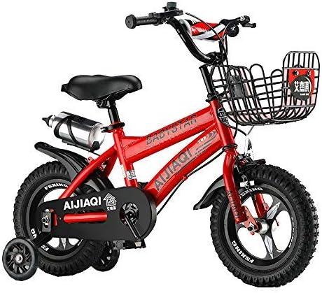 "YSA キッズバイク12""14""キッズアウトドア自転車、2〜5歳の男の子と女の子用調節可能な子供用マウンテンバイク、ホワイト、レッド、ブラック、ピンク自転車"