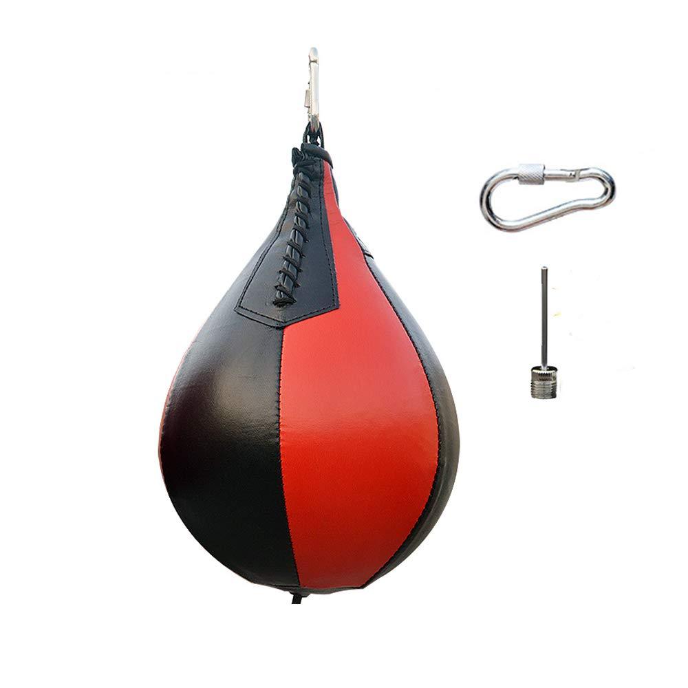 Fortoo ブラック レッド付き スポーツ フィットネス MMA ボクシング パンチング スピード トレーニング ハンギング スイベル フック ボール リリリース ペアバッグ エクササイズ ブラック と レッド