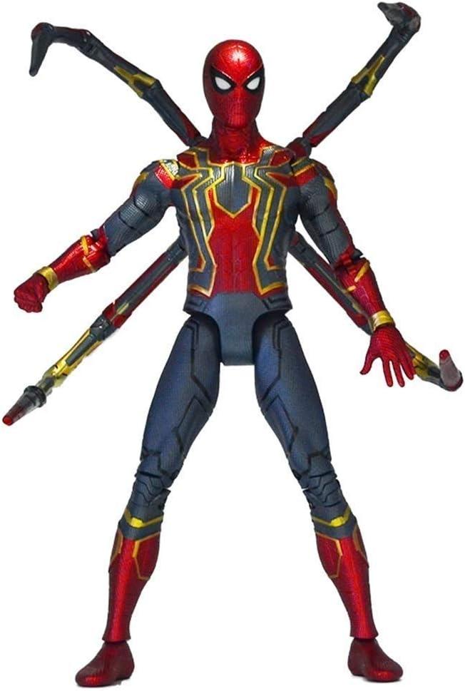 WANGSHAOFENG El Enemigo Alliance 4 Spider-Man Model Hero devuelve los Regalos de Juguetes de la Estatua de Jingpin Classic para niños Spiderman Negro