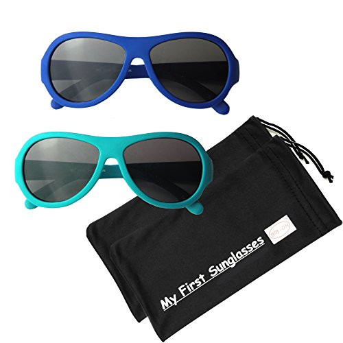 MFS- Baby Aviators 110mm - Navy Blue and Teal Value 2 - The First Aviators