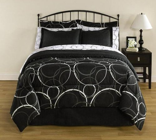 black white polka dot bedding