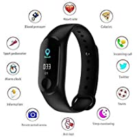 MobiStone M3 Band Intelligence Bluetooth Health Wrist Smart Band Watch with Heart Rate Monitor, Smart Bracelet, Health Bracelet, Activity Tracker for Android and Apple Mobile Phones