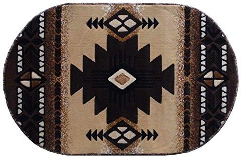 Cheap  South West Native American Oval Area Rug Design C318 Berber (3 Feet..