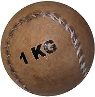 Medizinball aus Leder 1 kg - Ø 11 cm