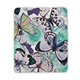 My Little Nest Warm Throw Blanket Watercolor Butterflies Lightweight Microfiber Soft Blanket Everyday Use for Bed Couch Sofa 50'' x 60''