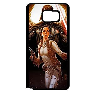 Cartoon Star Wars Series Protective Phone Case for Samsung Galaxy Note 5 Unique Design Leia Organa Image Back Cover
