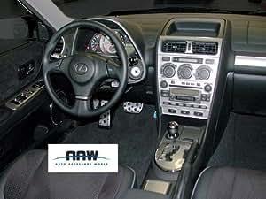 lexus is 300 is300 interior silver brushed aluminum dash trim kit set 2004 2005