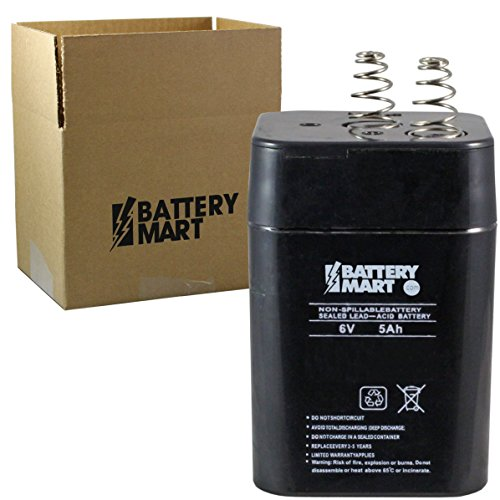 6 Volt 5 Ah Sealed Lead Acid Battery with Spring Terminal