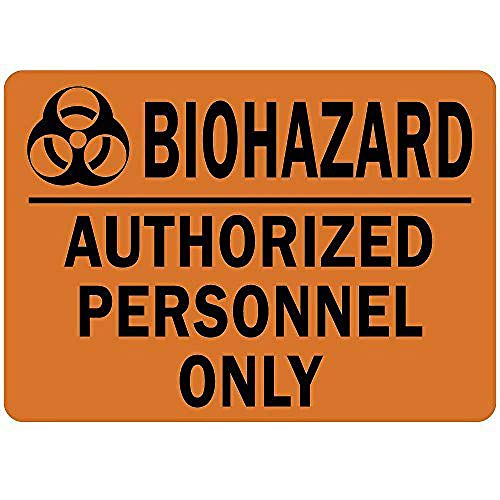 バイオハザード認定職員のみ 金属板ブリキ看板注意サイン情報サイン金属安全サイン警告サイン表示パネル