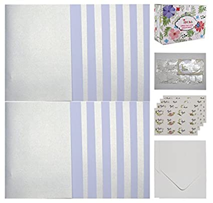 IDULL Baby Shower Thank You Cards Bulk Assorted 36 Cards, 36 Envelopes, 36 Sealing Stickers and Storage Box