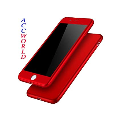 best loved b0595 df191 AccWorld Maroon / Wine Red Colour 360 Degree Slim Fit Hybrid Case Cover for  Apple Iphone 6/6s