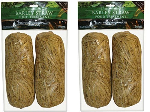 Summit 130 Clear-water Barley Straw Bales, 2 Packs of 2- 4 total by Summit Chemical Co.
