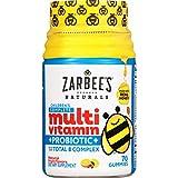 Zarbee's Naturals Children's Complete Multivitamin + Probiotic Gummies Sweetened with Honey, Natural Fruit