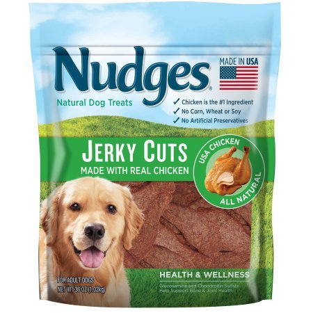 PACK OF 2 - Nudges Health and Wellness Chicken Jerky Dog Treats, 36 oz. by Nudges (Image #2)