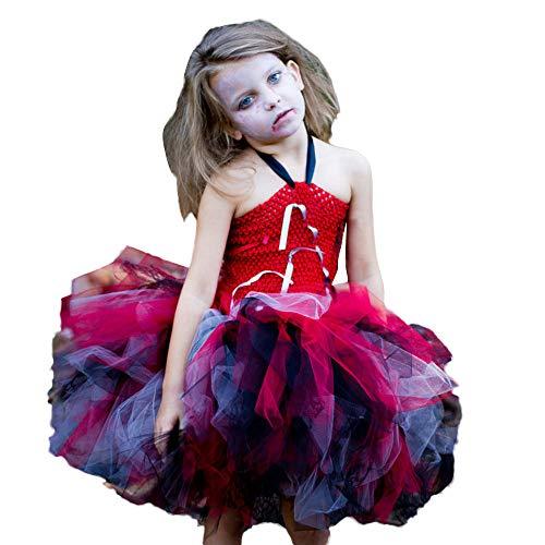 kaifongfu Toddler Kids Baby Girls Halloween Tutu Dress for Party (Red,140) -