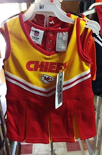 Amazon.com  NWT Licensed NFL Kansas City Chiefs Cheerleader Uniform Toddler  (4T)  Baby db8aa2c1c