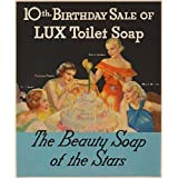 Lux Toilet Soap Vintage Poster USA c. 1934 (16x24 Giclee Art Print, Wall Decor Travel Poster)