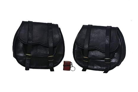 LBH 2 X Bolsa Lateral de Moto Negro Funda Lateral de Cuero ...