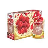 Happy Baby Clearly Crafted Organic Baby Food Stage 2, Bananas Raspberries & Oats, 4 Ounce, 16 Count
