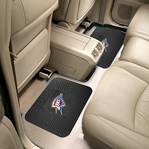 Oklahoma City Thunder NBA Sports Team Logo Car Truck SUV Utility Floor Mat 14'' x 17'' Black 2 Pack by Fanmats