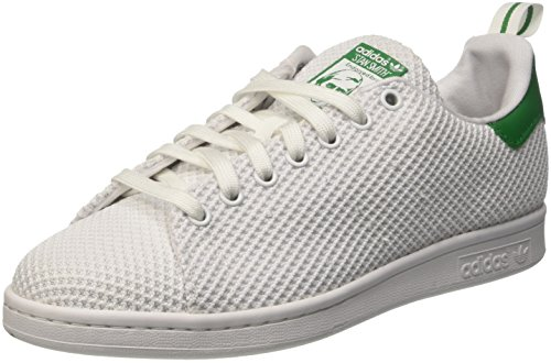 adidas Herren Stan Smith Low-Top Weiß (Footwear White/Footwear White/Green)