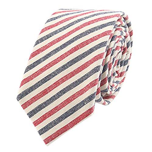 Plaid Striped Tie - Kineede Mens Neck Tie Neckwear Cotton Ties Plaid Striped Necktie Gravata Wedding