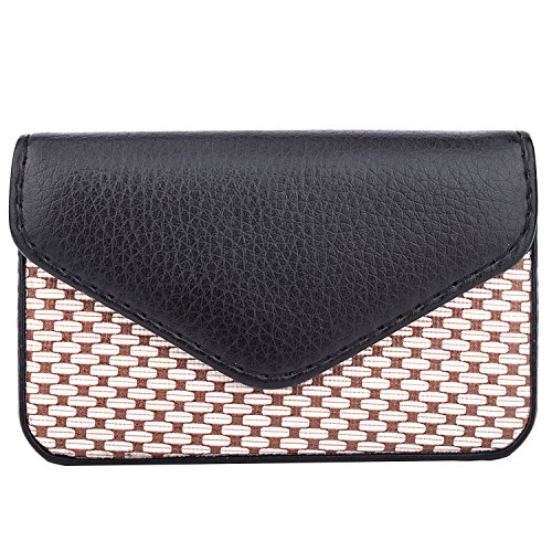 aa51630b4b06 MaxGear PU Leather Business Card Holder Case for Women or Men with Magnetic  Shut Fashion Black, Holds 25 Business Cards - Buy Online in UAE.