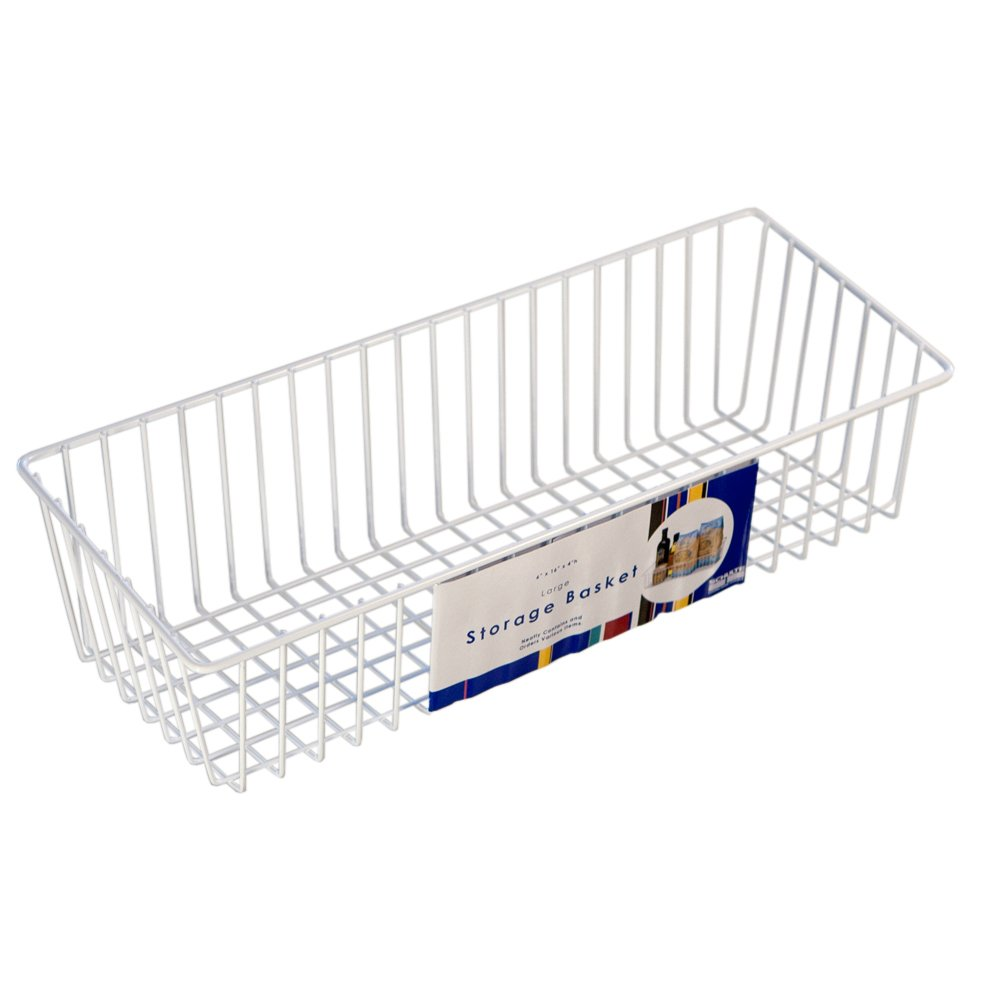 Organized Living Large Simple Basket - White