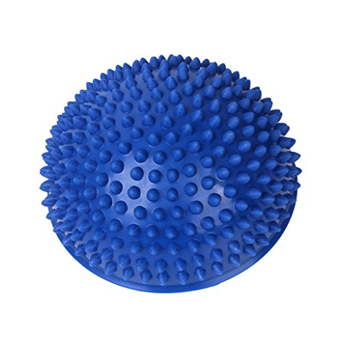 Footful 1pc Spiky Massaging Hemisphere Foot Sole Massage Balancing Ball---Blue