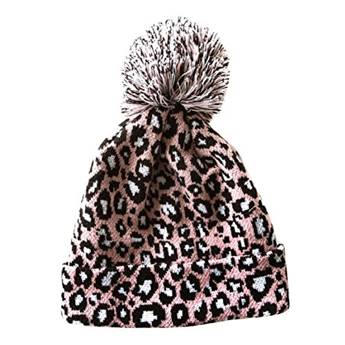 R LivE Sexy Leopard Knitted Beanie Hat Women Girls Caps