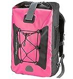 Phantom Aquatics Premium Waterproof Backpack Dry Bag, Pink, 25-Liter For Sale