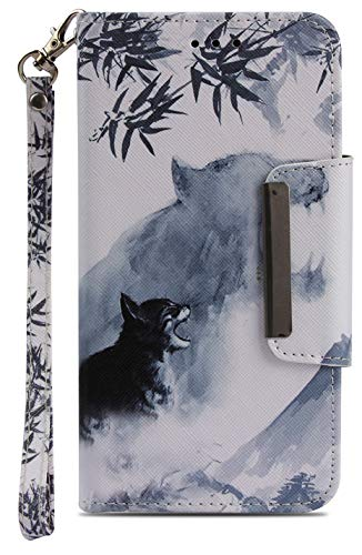Wiitop Compatible Motorola Moto G5 Case, Moto E4 Case(US Edition XT1768),MotoE4 (4th Gen) Case Leather Wallet Kickstand Wrist Strap Credit Card Slot Flip Full Body Protective Cover Stand Animal Tiger