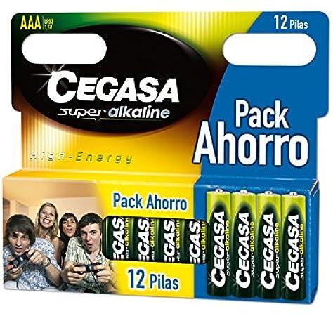 CEGASA Superalkaline - Pack 12 Pilas LR03, Color Verde: Amazon.es ...
