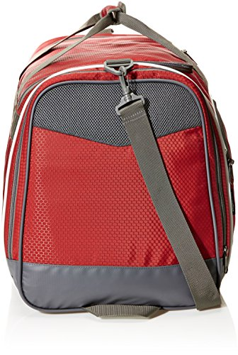 51qNlyN3kTL - AmazonBasics Small Lightweight Durable Sports Duffel Gym and Overnight Travel Bag - Red